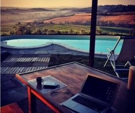 Capanna al lago isolated villa private view pool